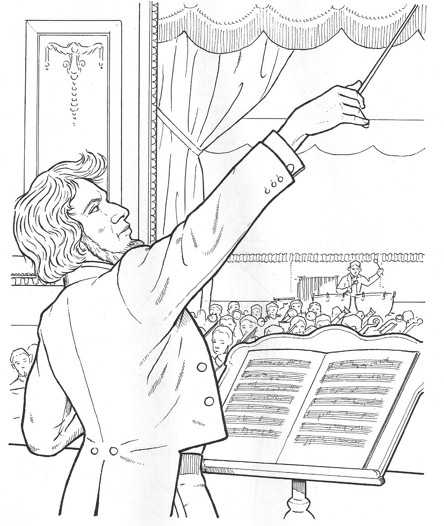 Composer Coloring Pages at GetDrawings | Free download |Composers Coloring Pages