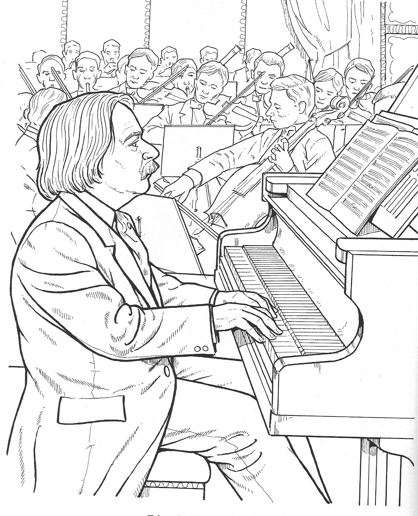 Welcome to Dover Publications |Composers Coloring Pages