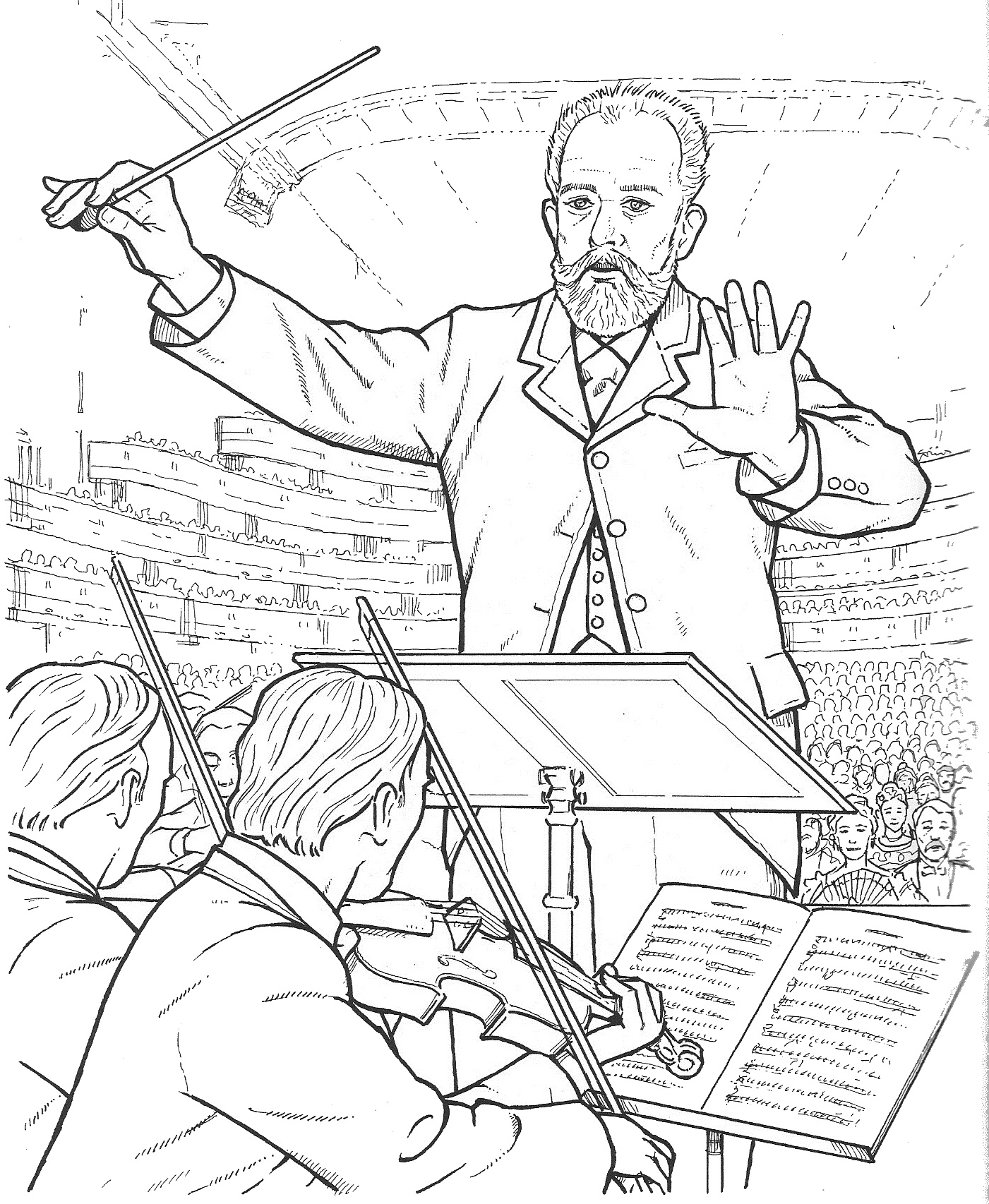 Composer Coloring Sheets 2 by The Bulletin Board Lady ... |Composers Coloring Pages